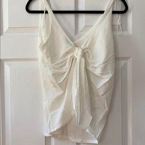 New White Linen Like Top